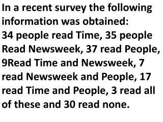 Time            Newsweek                                 People