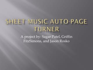 Sheet Music Auto-Page  T urner