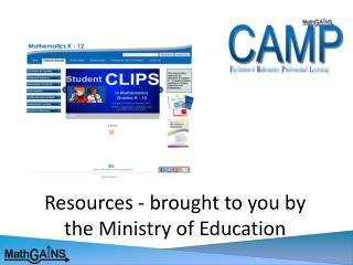 Resources - brought to you by the Ministry of Education