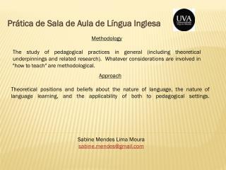 Prática de Sala de Aula de Língua Inglesa