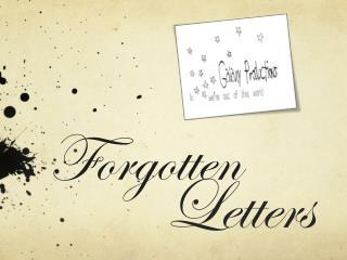 Forgotten          Letters