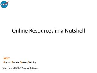Online Resources in a Nutshell