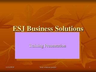 ESJ Business Solutions Overview Presentation.ppt