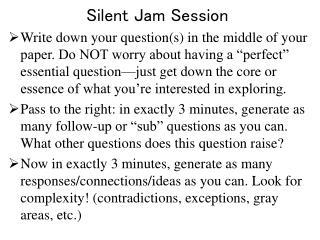 Silent Jam Session