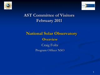 AST Committee of Visitors February 2011