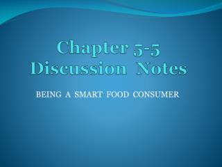 Chapter 5-5 Discussion  Notes