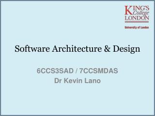 Software Architecture Description Languages