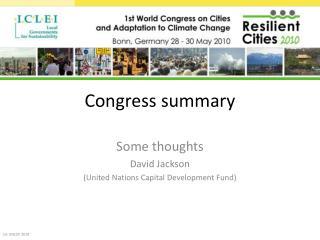 Congress summary