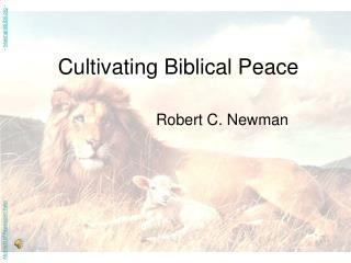 Cultivating Biblical Peace