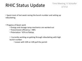 RHIC Status Update