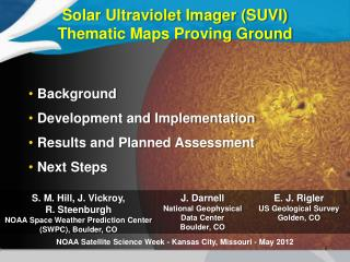 Solar Ultraviolet Imager (SUVI) Thematic Maps Proving Ground