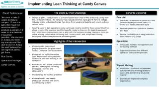 Implementing Lean Thinking at Candy Canvas