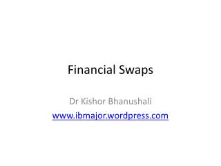 Financial Swaps