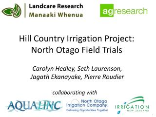 Hill Country Irrigation Project: North  Otago  Field Trials