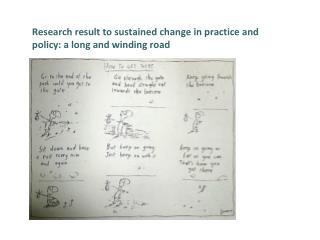 Research result to sustained change in practice and policy: a long and winding road