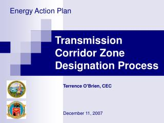 Transmission Corridor Zone Designation Process