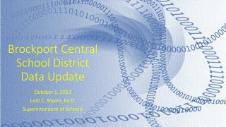 Brockport Central School District Data Update