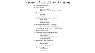 Frequent Alcohol Liability Issues