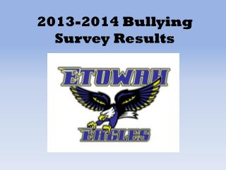 2013-2014 Bullying Survey Results