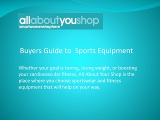 Buyers Guide to Fitness Equipment on All About You Shop