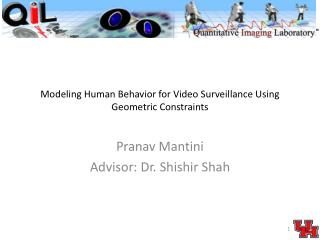 Modeling Human  Behavior  for Video Surveillance Using Geometric Constraints
