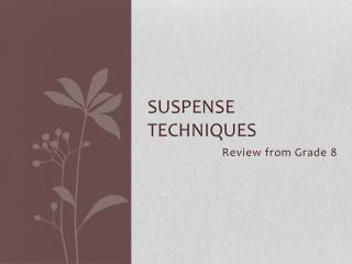 Suspense Techniques