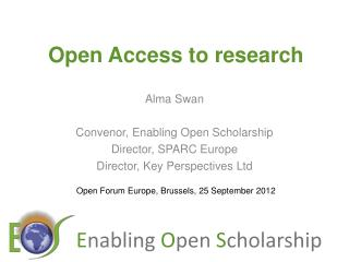Open Access to research