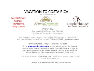 VACATION TO COSTA RICA!