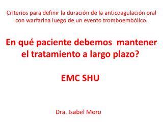 Dra.Isabel Moro