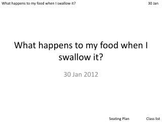 What happens to my food when I swallow it?