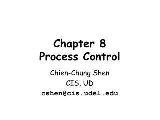 Chapter  8 Process  Control