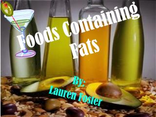 Foods Containing Fats