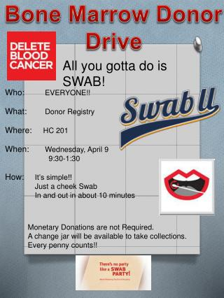All you  gotta  do is SWAB!