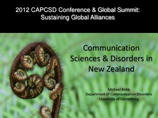 2012 CAPCSD Conference & Global Summit: Sustaining Global Alliances