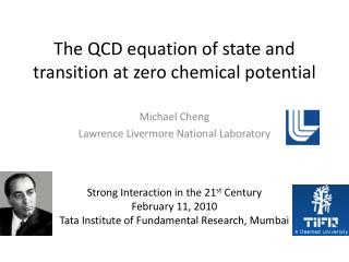 The QCD equation of state and transition at zero chemical  potential