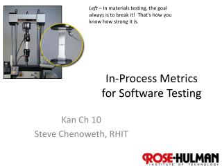In-Process Metrics for Software Testing