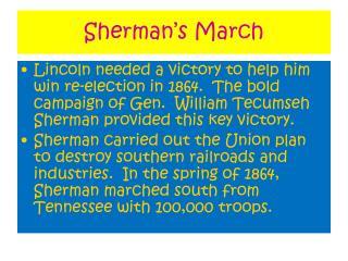 Sherman�s March