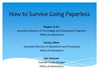 How to Survive Going Paperless