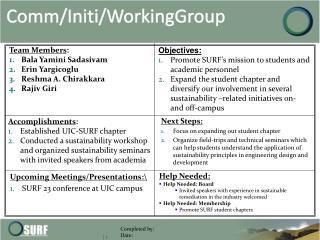 Comm / Initi / WorkingGroup