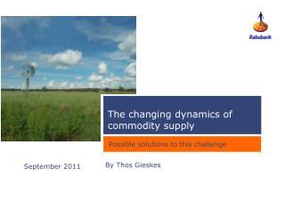 The changing dynamics of commodity supply