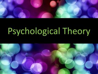 Psychological Theory