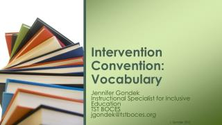 Intervention Convention: Vocabulary