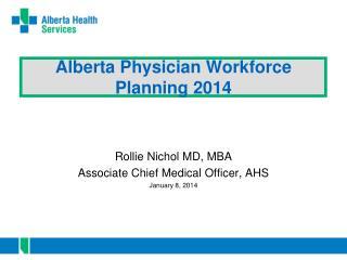 Alberta Physician  W orkforce Planning 2014