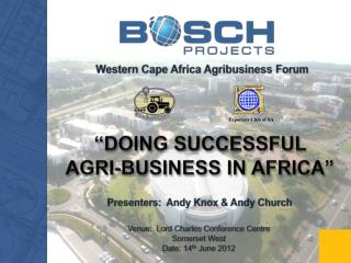 Western Cape Africa Agribusiness Forum