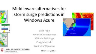 Middleware alternatives for storm surge predictions in Windows Azure