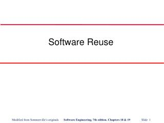 Software Reuse