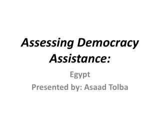 Assessing Democracy Assistance: