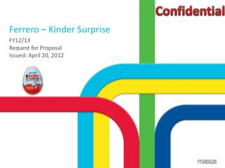 Ferrero – Kinder Surprise
