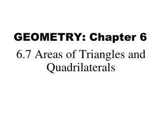 GEOMETRY: Chapter  6