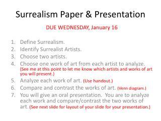 Surrealism Paper & Presentation